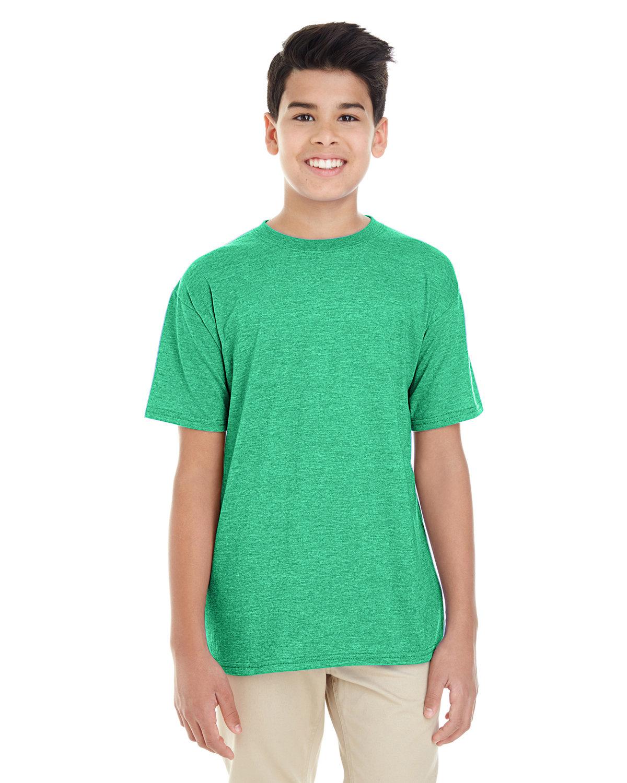 Gildan Youth Softstyle® 4.5 oz. T-Shirt HTHR IRISH GREEN