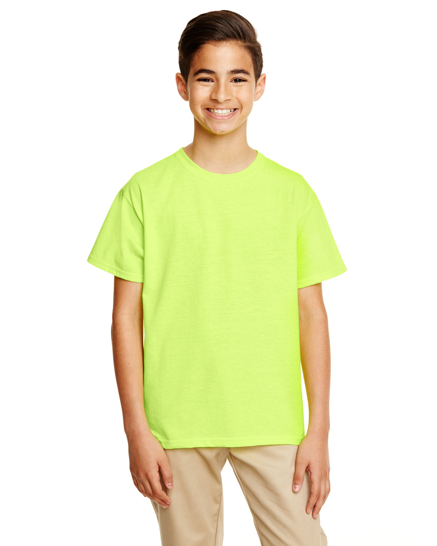 Gildan Youth Softstyle® 4.5 oz. T-Shirt SAFETY GREEN