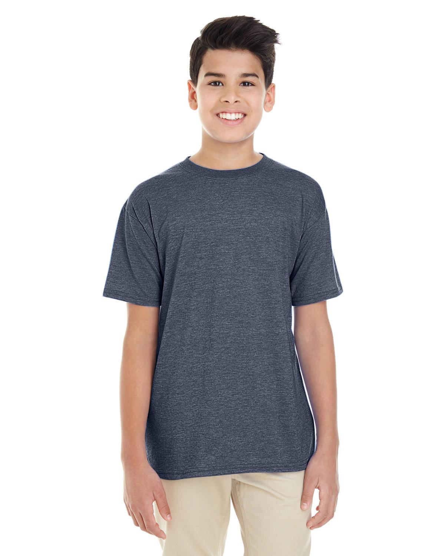 Gildan Youth Softstyle® 4.5 oz. T-Shirt HEATHER NAVY