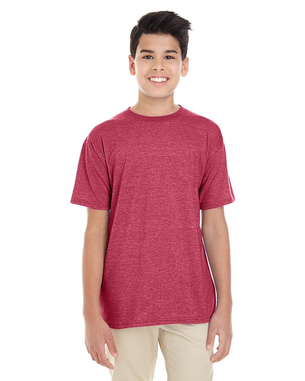Gildan Youth Softstyle® 4.5 oz. T-Shirt HEATHER CARDINAL