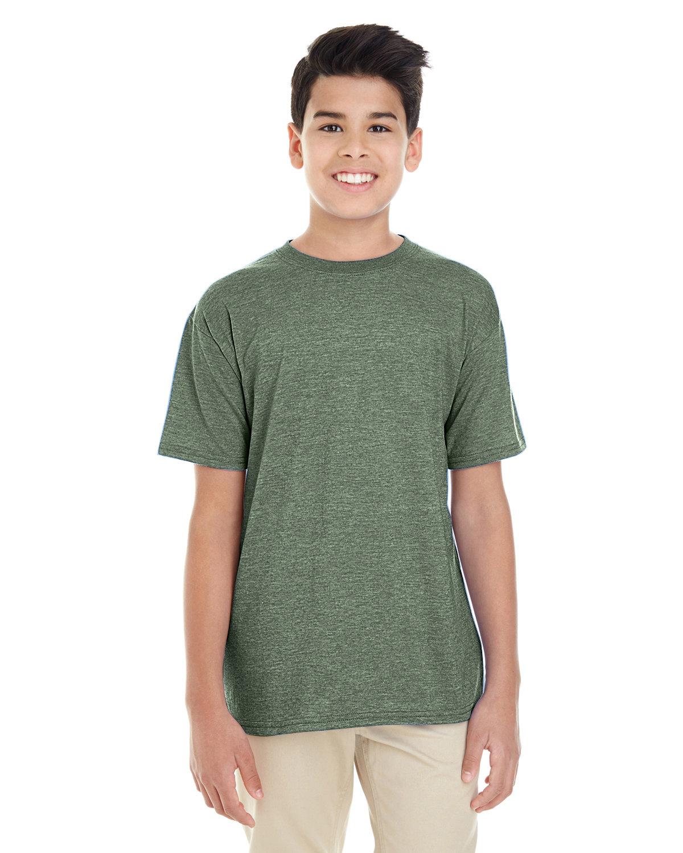Gildan Youth Softstyle® 4.5 oz. T-Shirt HTHR MILITRY GRN