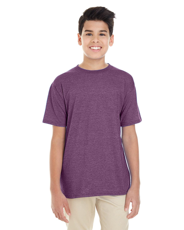 Gildan Youth Softstyle® 4.5 oz. T-Shirt HTHR AUBERGINE