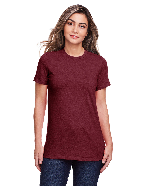 Gildan Ladies' Softstyle CVC T-Shirt MAROON MIST