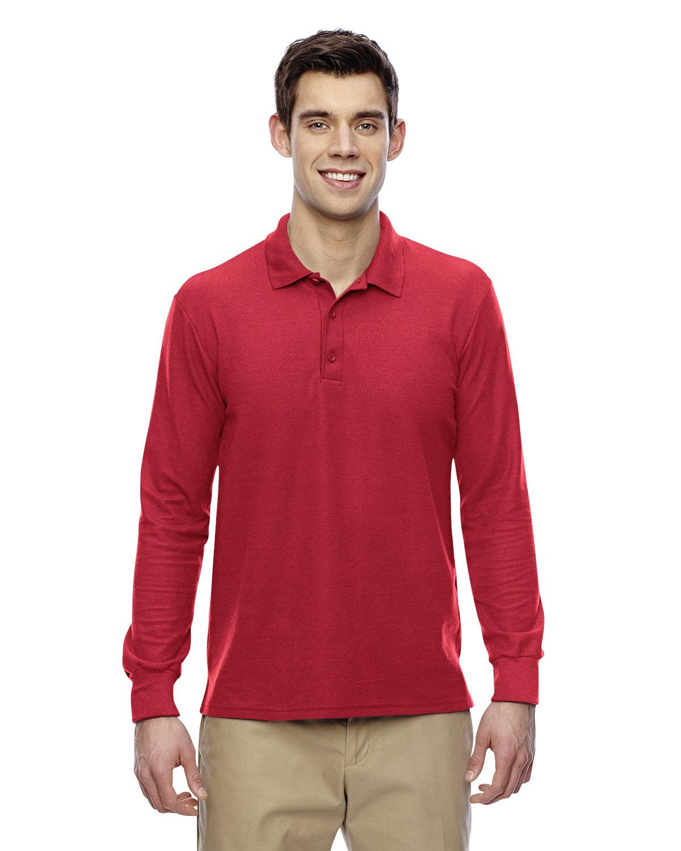 Gildan Adult Double Piqué Long-Sleeve Polo RED