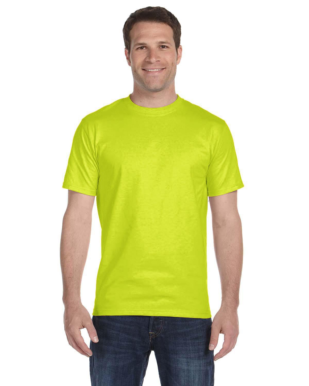 Gildan Adult 5.5 oz., 50/50 T-Shirt SAFETY GREEN