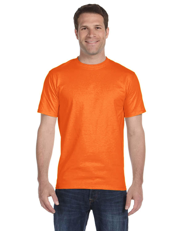 Gildan Adult 5.5 oz., 50/50 T-Shirt S ORANGE