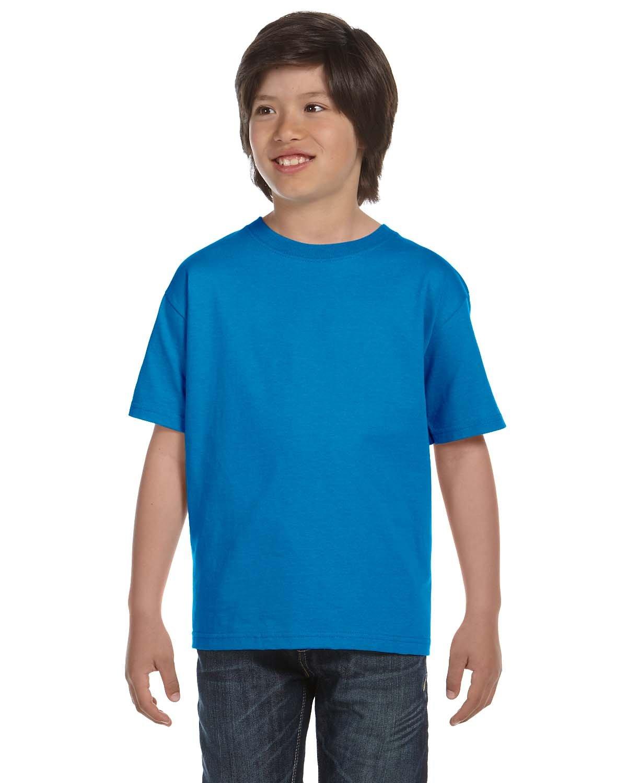 Gildan Youth 5.5 oz., 50/50 T-Shirt SAPPHIRE