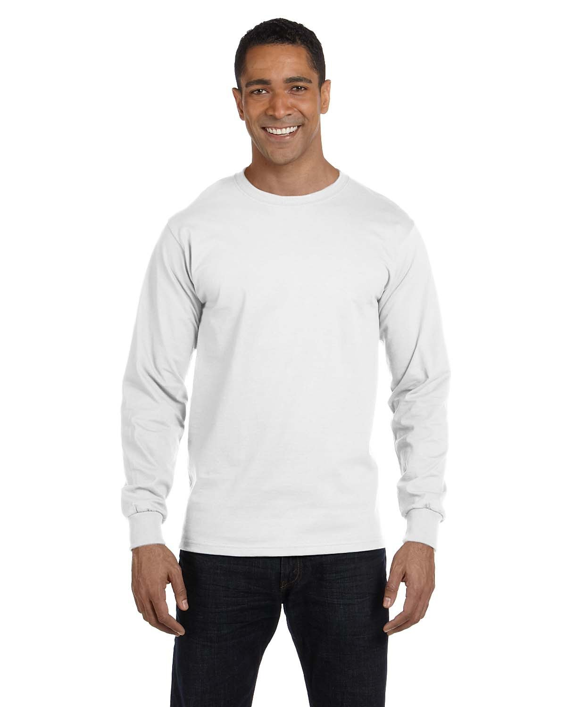 Gildan Adult 50/50 Long-Sleeve T-Shirt WHITE