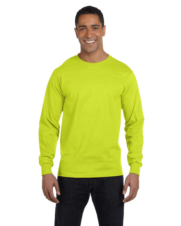 Gildan Adult 50/50 Long-Sleeve T-Shirt SAFETY GREEN