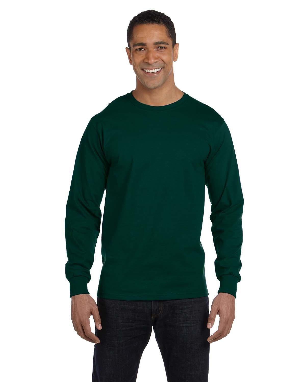 Gildan Adult 50/50 Long-Sleeve T-Shirt FOREST GREEN