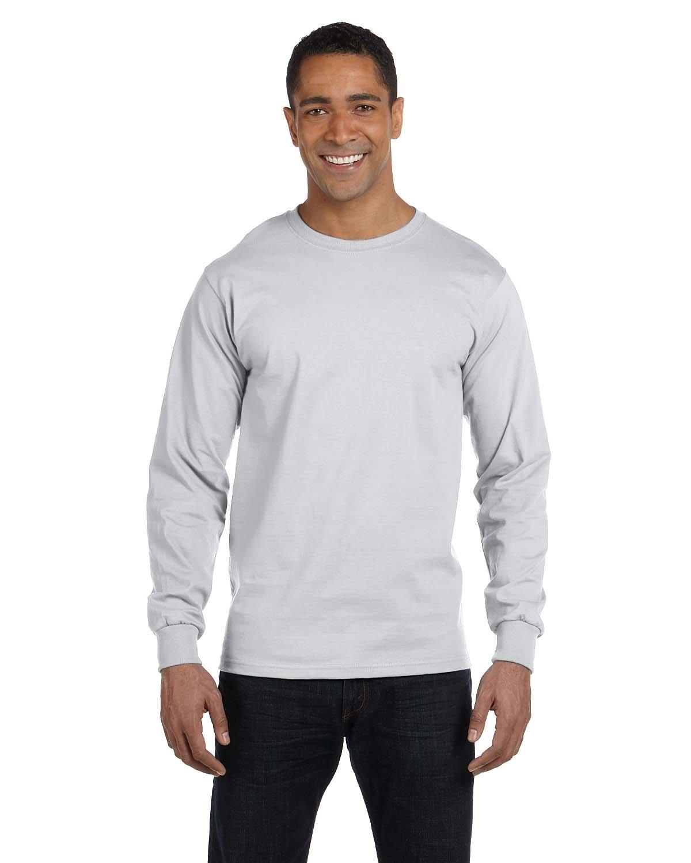 Gildan Adult 50/50 Long-Sleeve T-Shirt ASH GREY