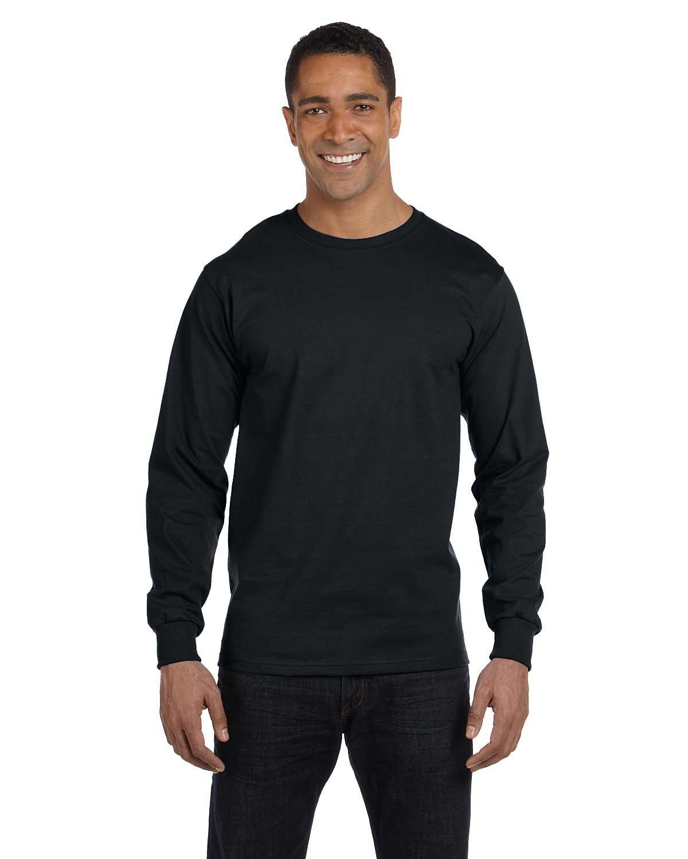 Gildan Adult 50/50 Long-Sleeve T-Shirt BLACK