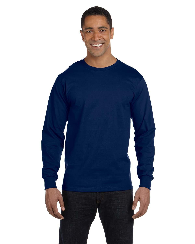 Gildan Adult 50/50 Long-Sleeve T-Shirt NAVY