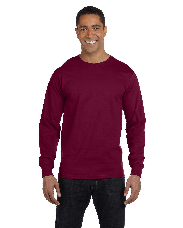 Gildan Adult 50/50 Long-Sleeve T-Shirt MAROON