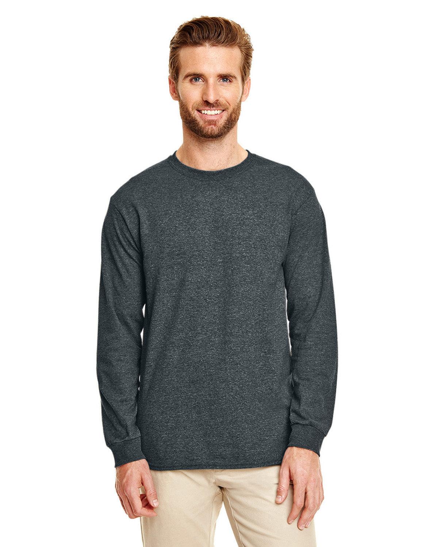 Gildan Adult 50/50 Long-Sleeve T-Shirt DARK HEATHER