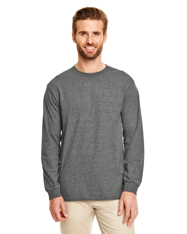 Gildan Adult 50/50 Long-Sleeve T-Shirt GRAPHITE HEATHER