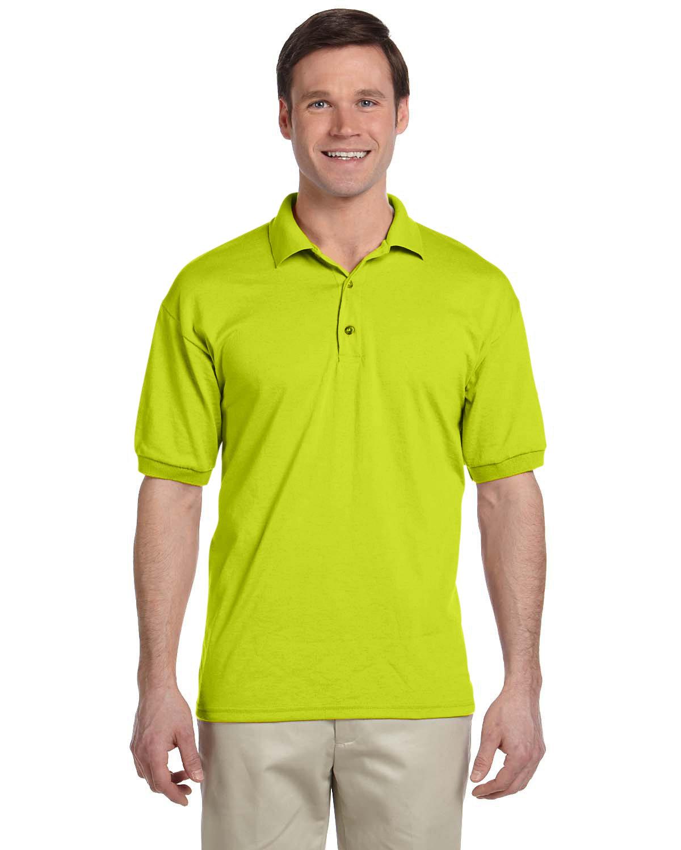 Gildan Adult 50/50 Jersey Polo SAFETY GREEN