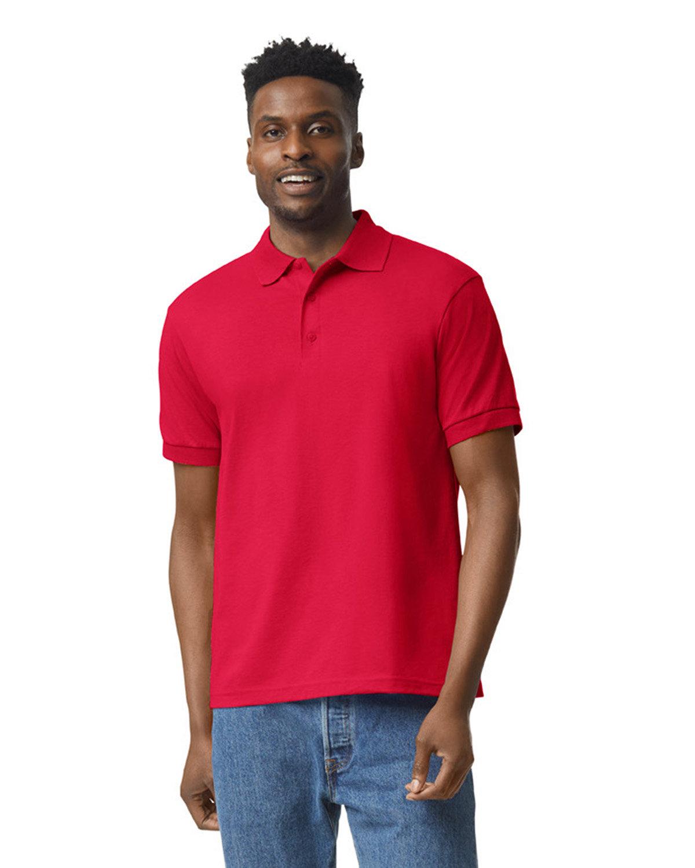 Gildan Adult 50/50 Jersey Polo RED