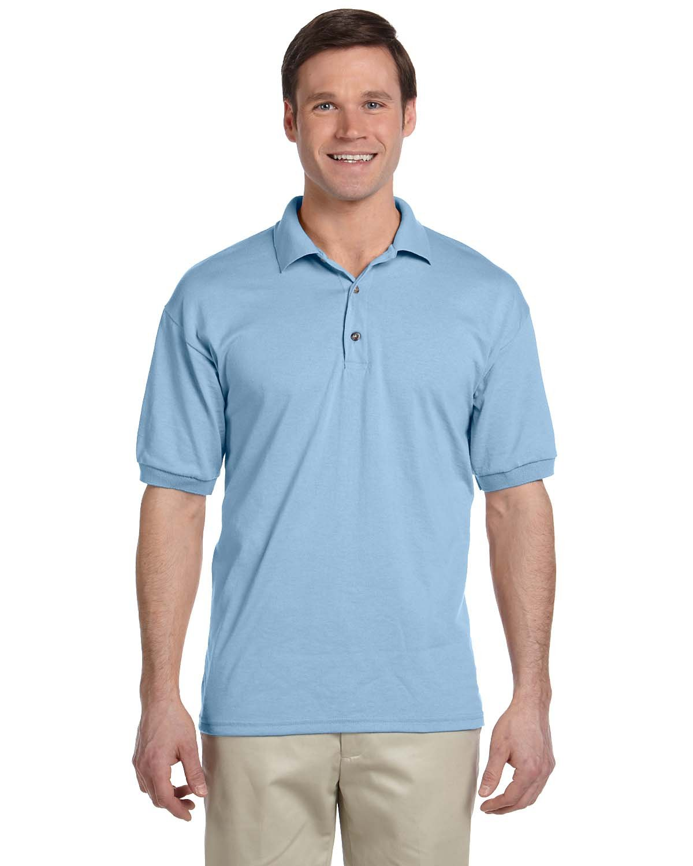Gildan Adult 50/50 Jersey Polo LIGHT BLUE