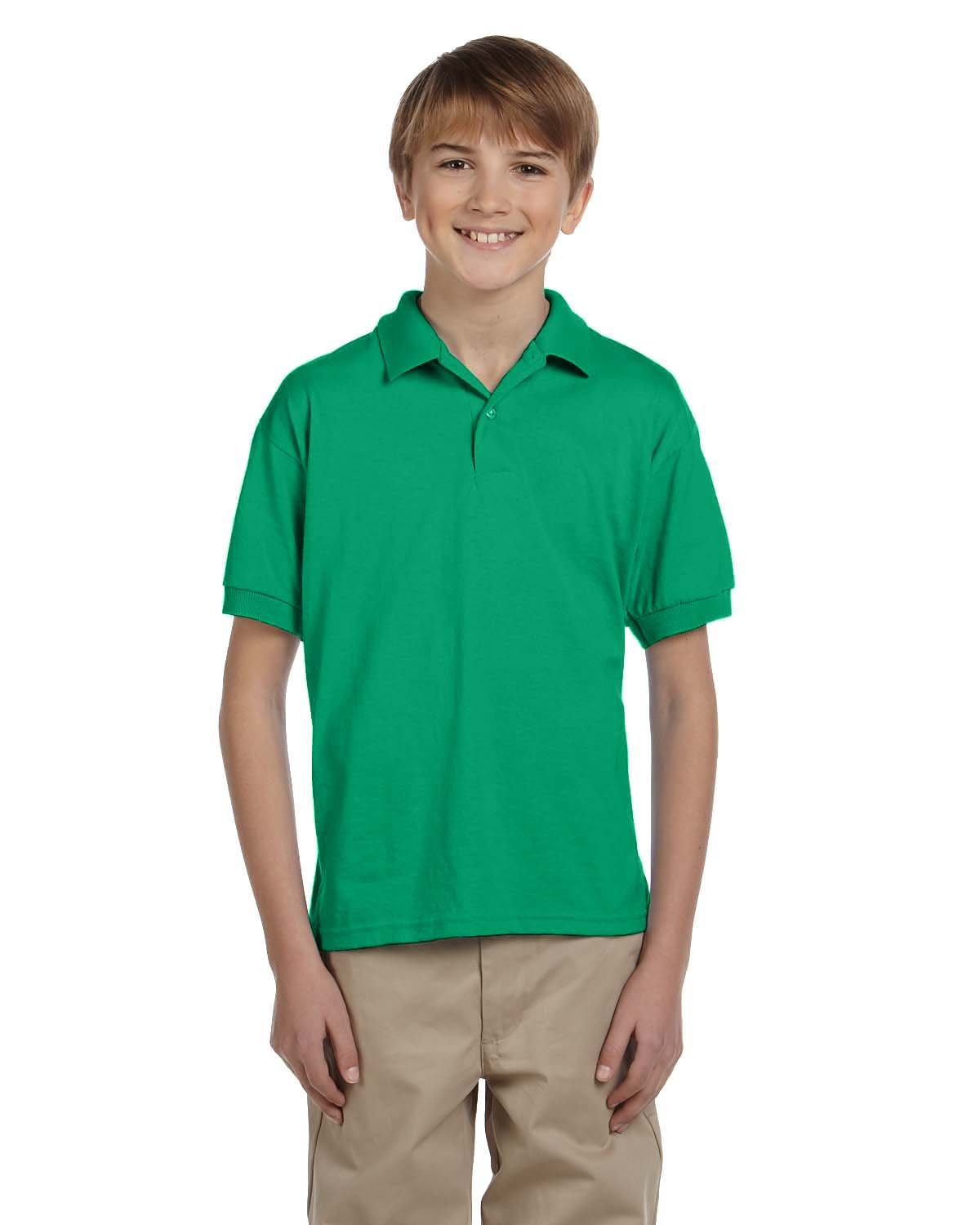 Gildan Youth 50/50 Jersey Polo KELLY GREEN