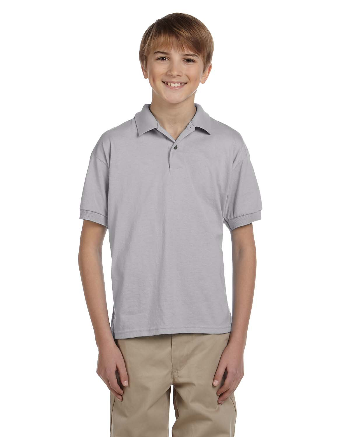 Gildan Youth 50/50 Jersey Polo SPORT GREY