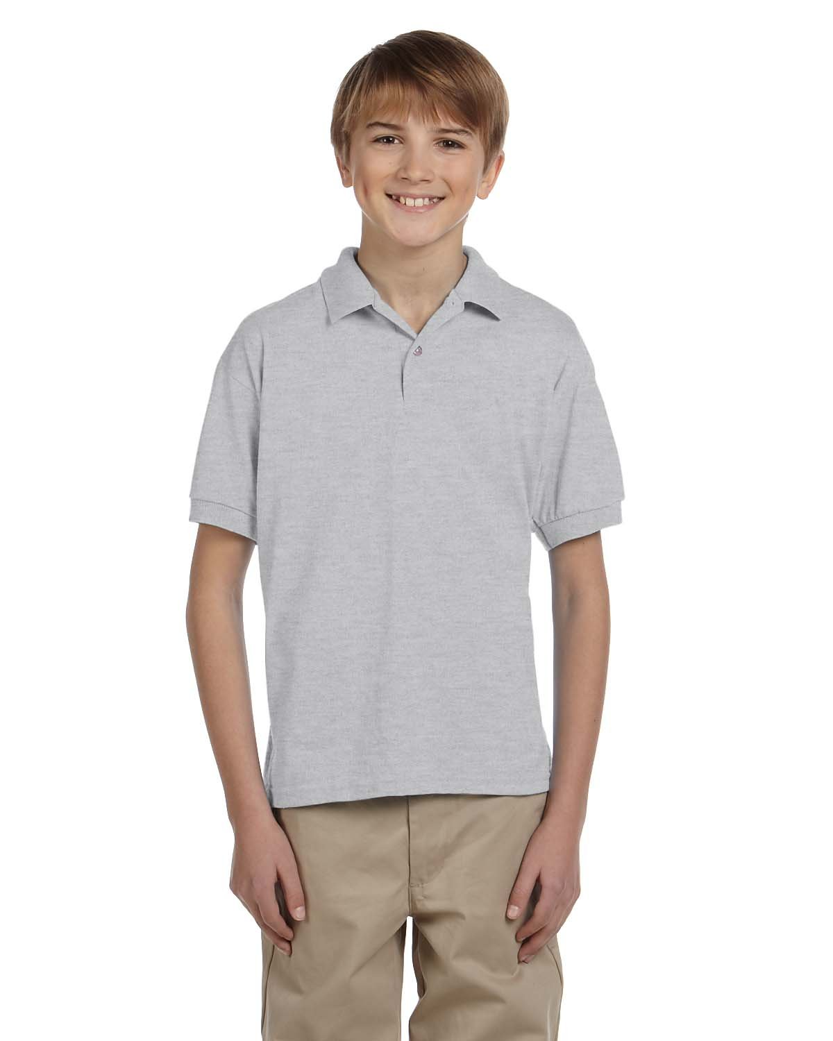 Gildan Youth 50/50 Jersey Polo ASH GREY
