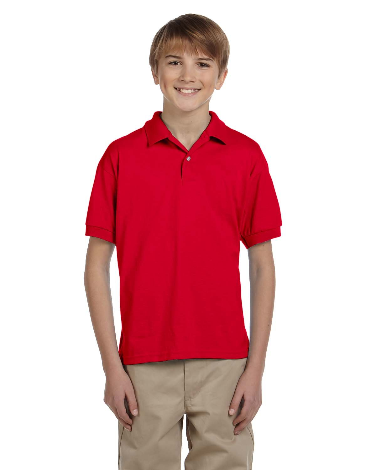 Gildan Youth 50/50 Jersey Polo RED