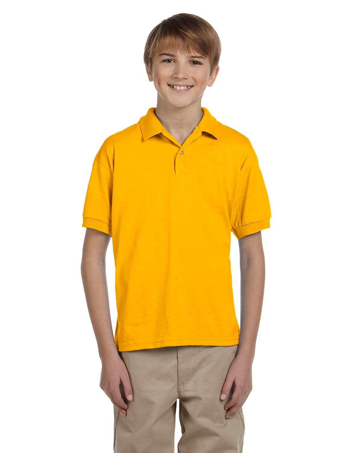 Gildan Youth 50/50 Jersey Polo GOLD