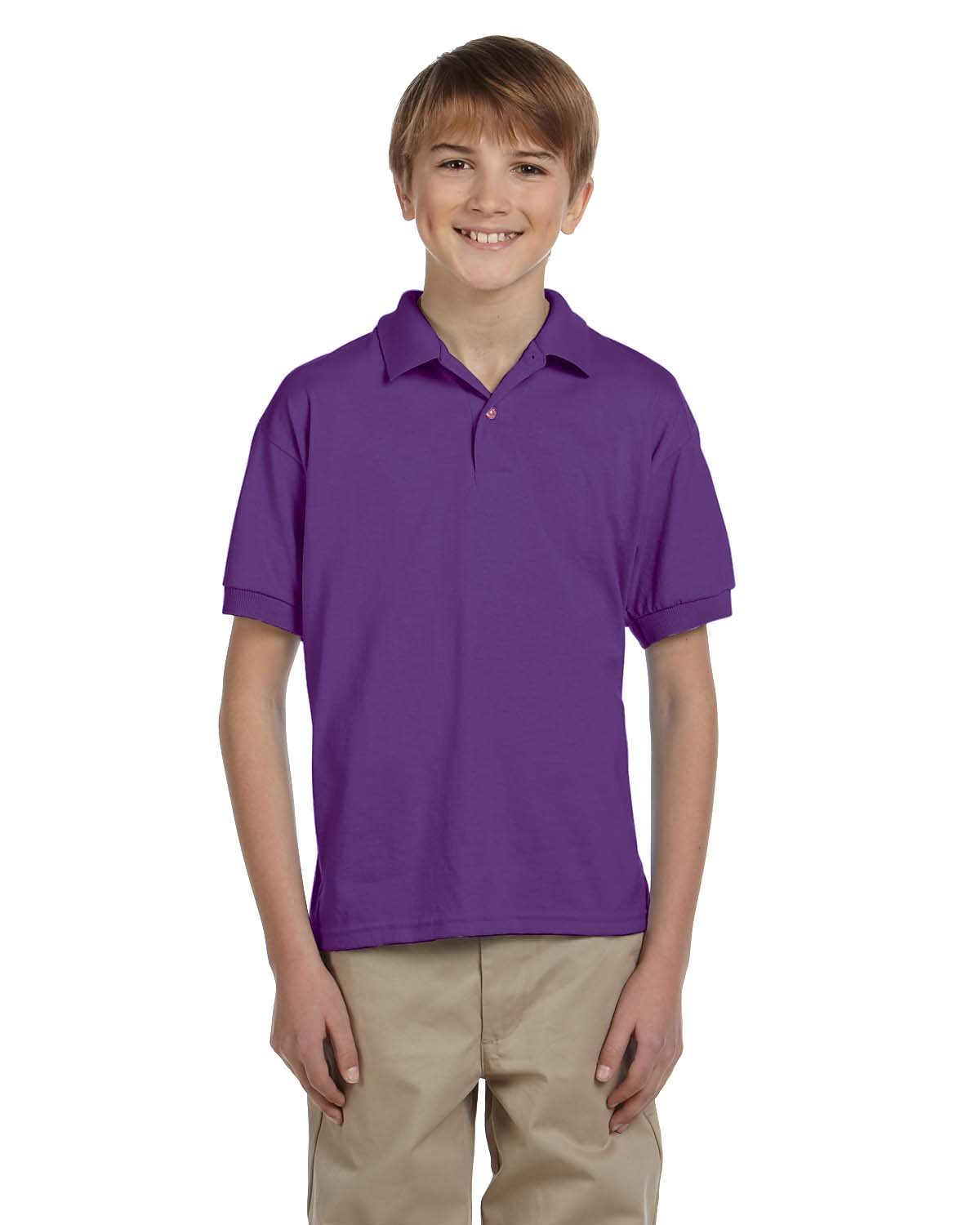 Gildan Youth 50/50 Jersey Polo PURPLE