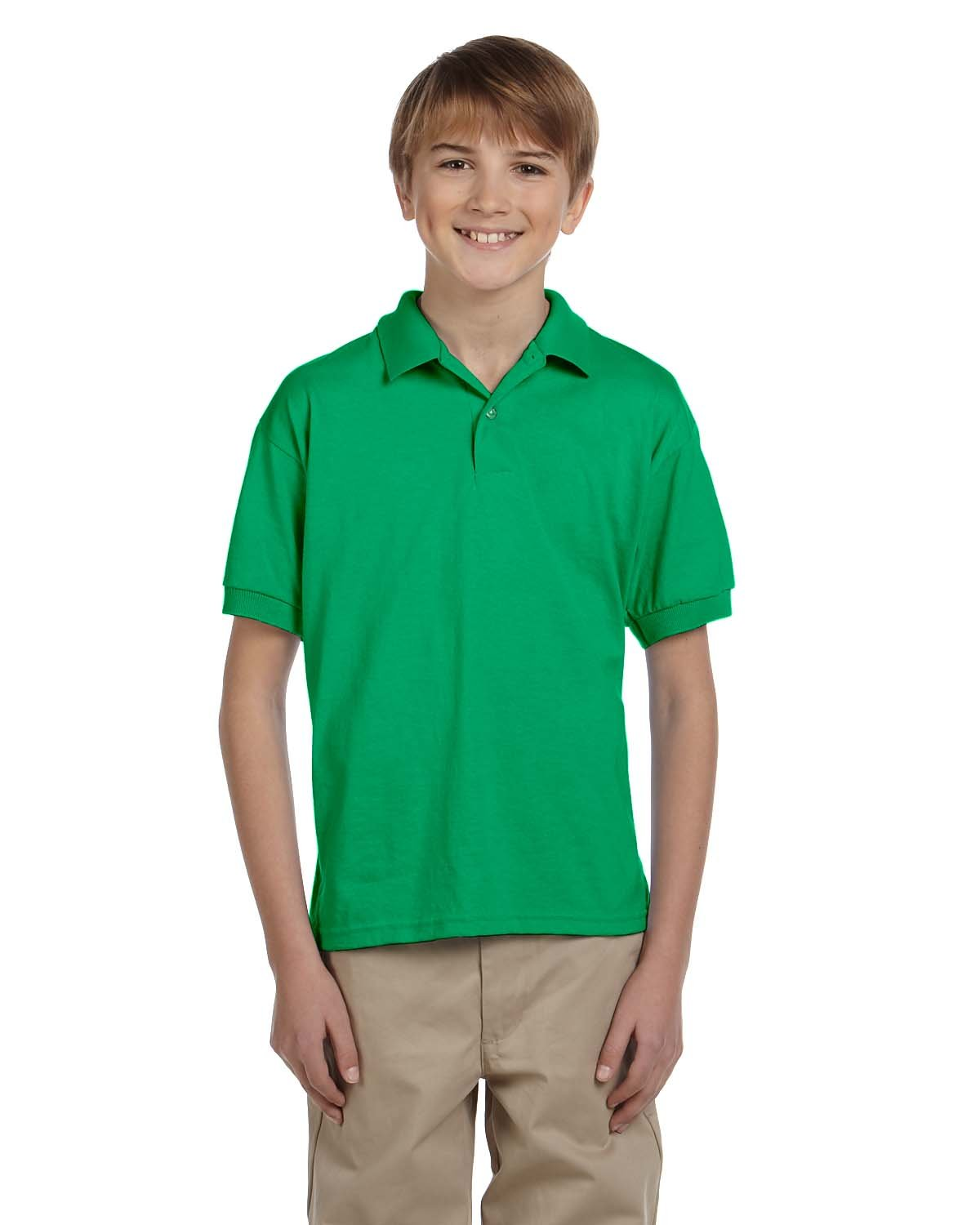 Gildan Youth 50/50 Jersey Polo IRISH GREEN