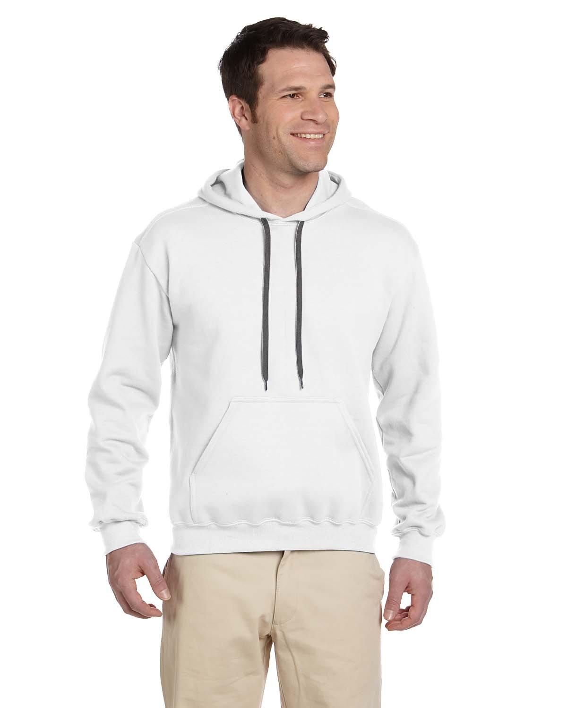 Gildan Adult Premium Cotton® Ringspun Hooded Sweatshirt WHITE
