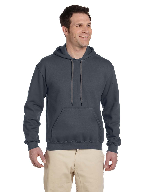 Gildan Adult Premium Cotton® Ringspun Hooded Sweatshirt CHARCOAL