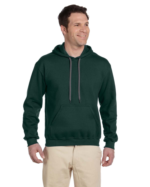 Gildan Adult Premium Cotton® Ringspun Hooded Sweatshirt FOREST GREEN
