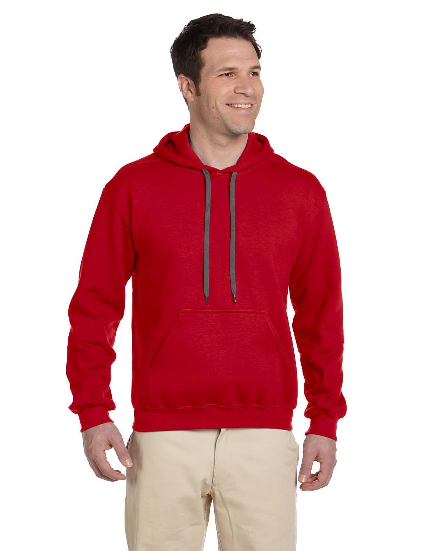 Gildan Adult Premium Cotton® Ringspun Hooded Sweatshirt RED