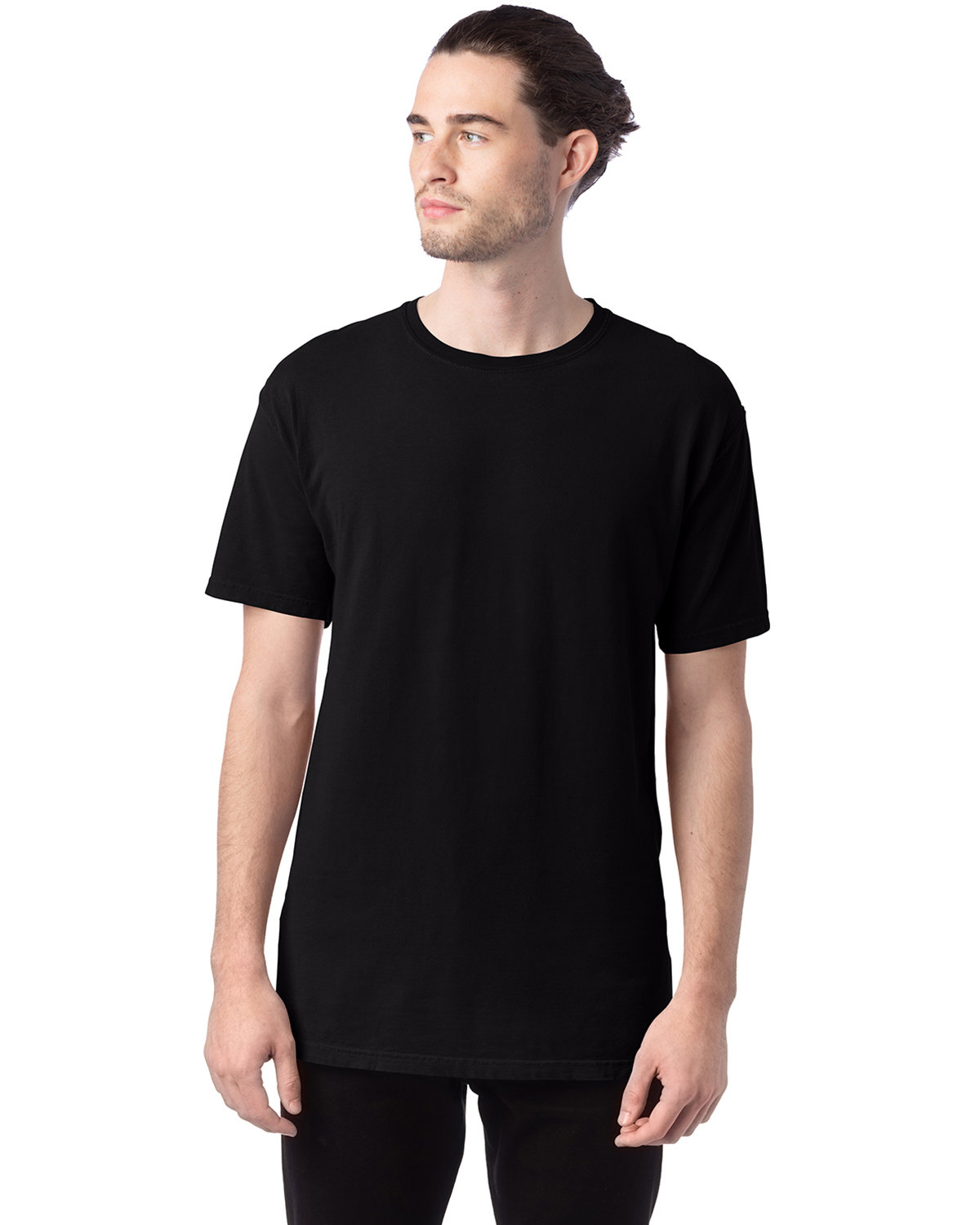 ComfortWash by Hanes Men's 5.5 oz., 100% Ringspun Cotton Garment-Dyed T-Shirt BLACK