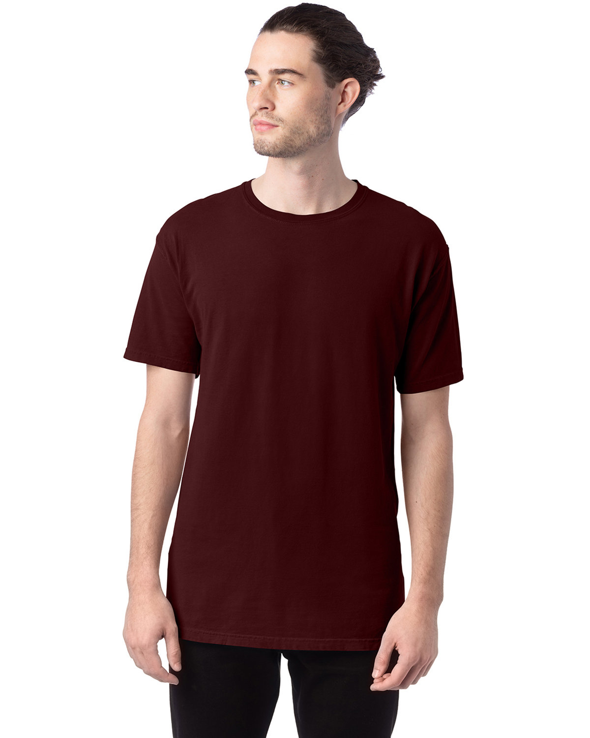 ComfortWash by Hanes Men's 5.5 oz., 100% Ringspun Cotton Garment-Dyed T-Shirt MAROON