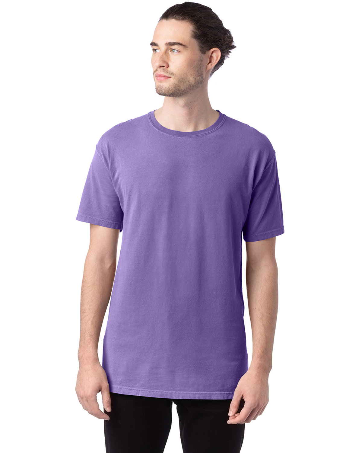 ComfortWash by Hanes Men's 5.5 oz., 100% Ringspun Cotton Garment-Dyed T-Shirt LAVENDER