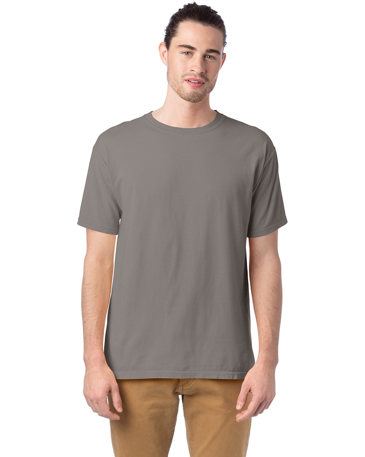 ComfortWash by Hanes Men's 5.5 oz., 100% Ringspun Cotton Garment-Dyed T-Shirt CONCRETE