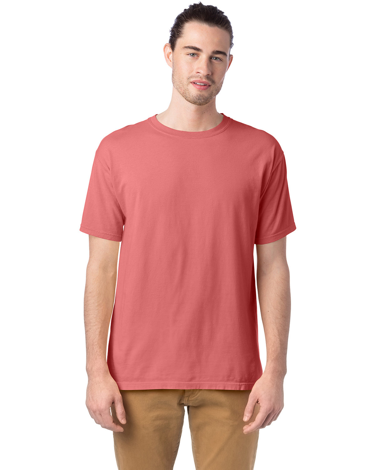 ComfortWash by Hanes Men's 5.5 oz., 100% Ringspun Cotton Garment-Dyed T-Shirt CORAL CRAZE