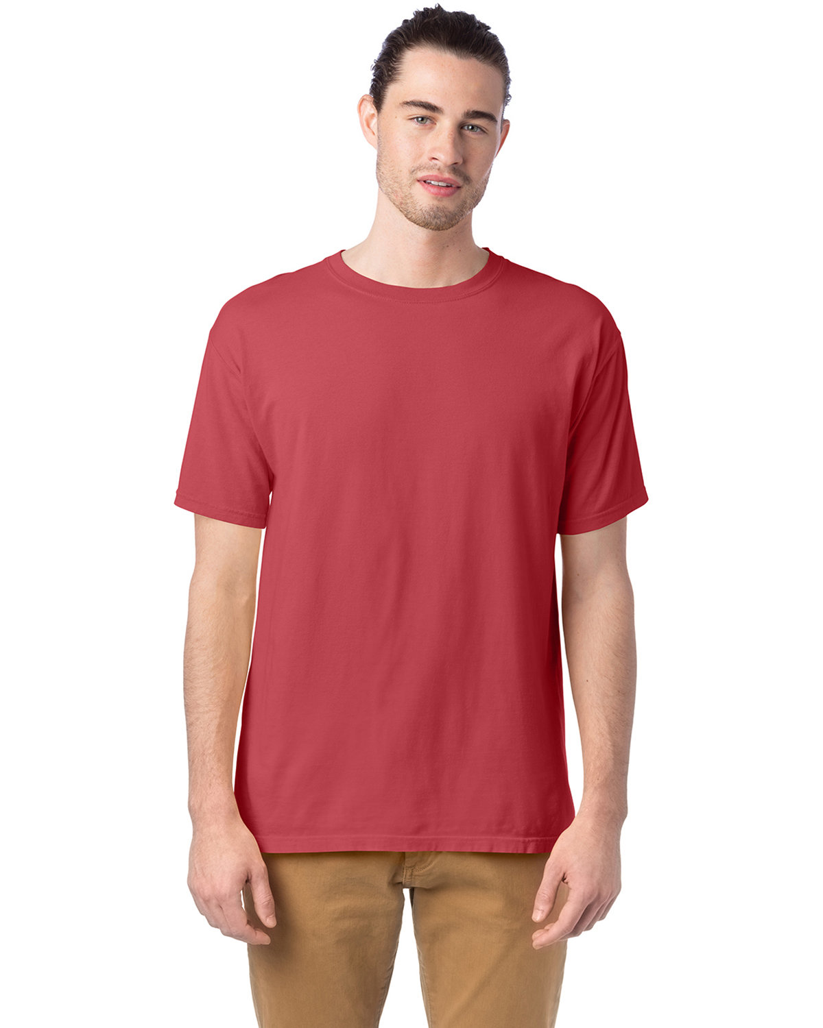 ComfortWash by Hanes Men's 5.5 oz., 100% Ringspun Cotton Garment-Dyed T-Shirt CRIMSON FALL