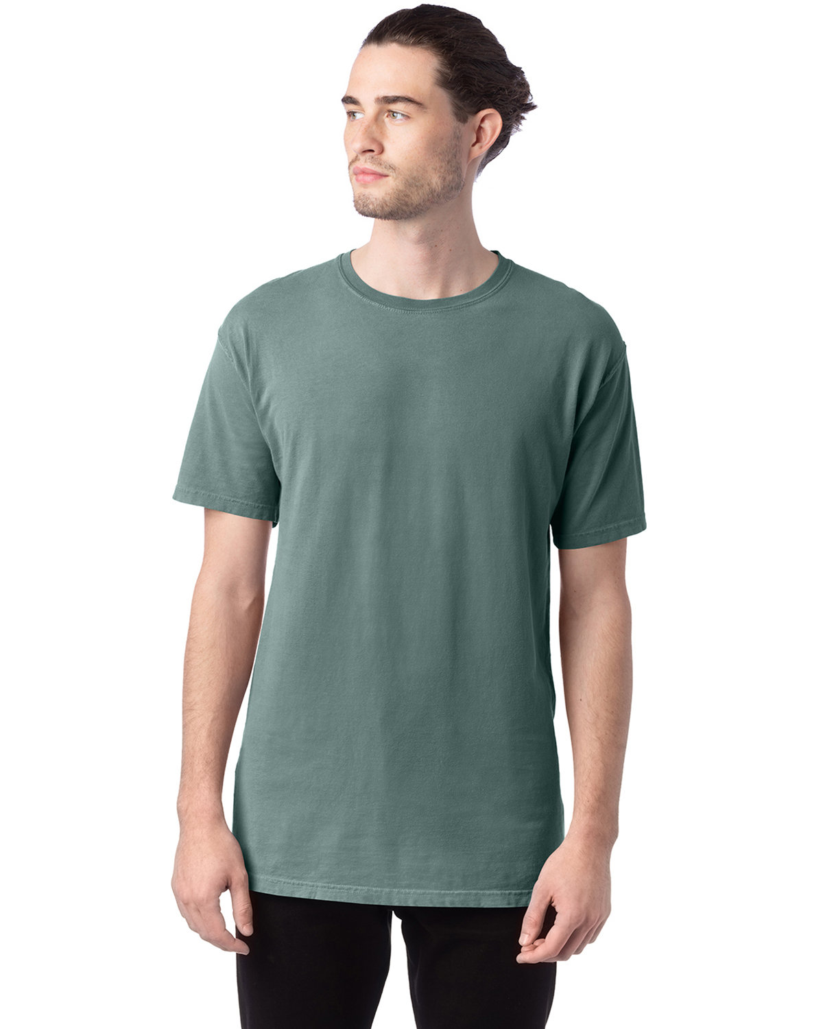 ComfortWash by Hanes Men's 5.5 oz., 100% Ringspun Cotton Garment-Dyed T-Shirt CYPRESS GREEN