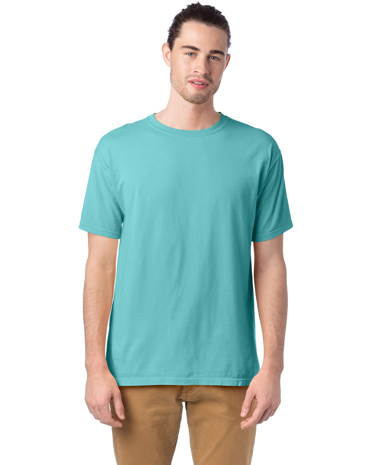 ComfortWash by Hanes Men's 5.5 oz., 100% Ringspun Cotton Garment-Dyed T-Shirt MINT