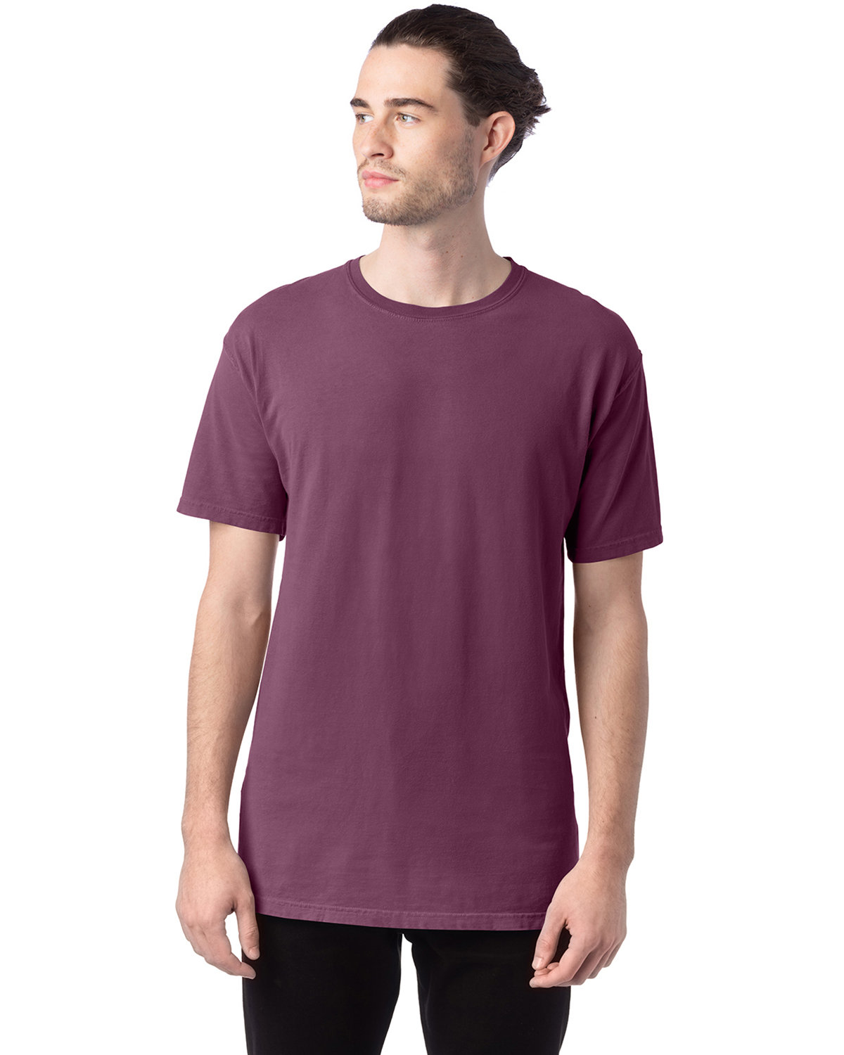 ComfortWash by Hanes Men's 5.5 oz., 100% Ringspun Cotton Garment-Dyed T-Shirt PURPLE PLM RAISN
