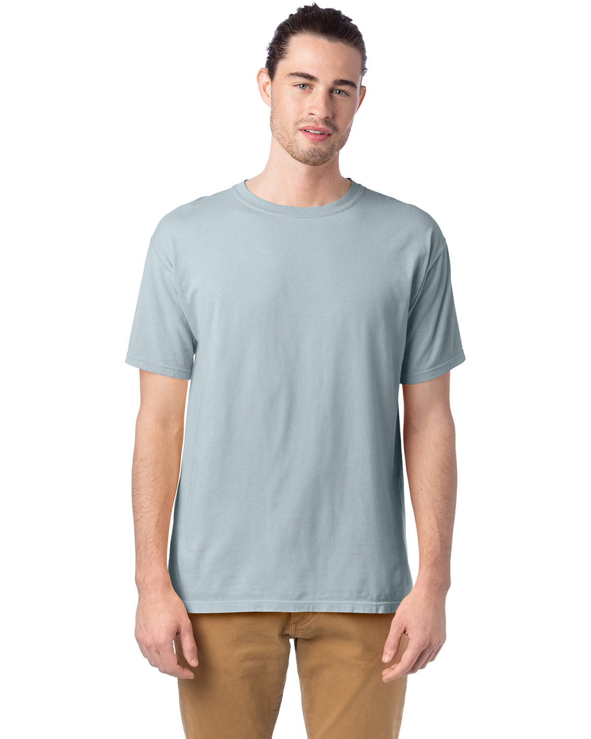 ComfortWash by Hanes Men's 5.5 oz., 100% Ringspun Cotton Garment-Dyed T-Shirt SOOTHING BLUE