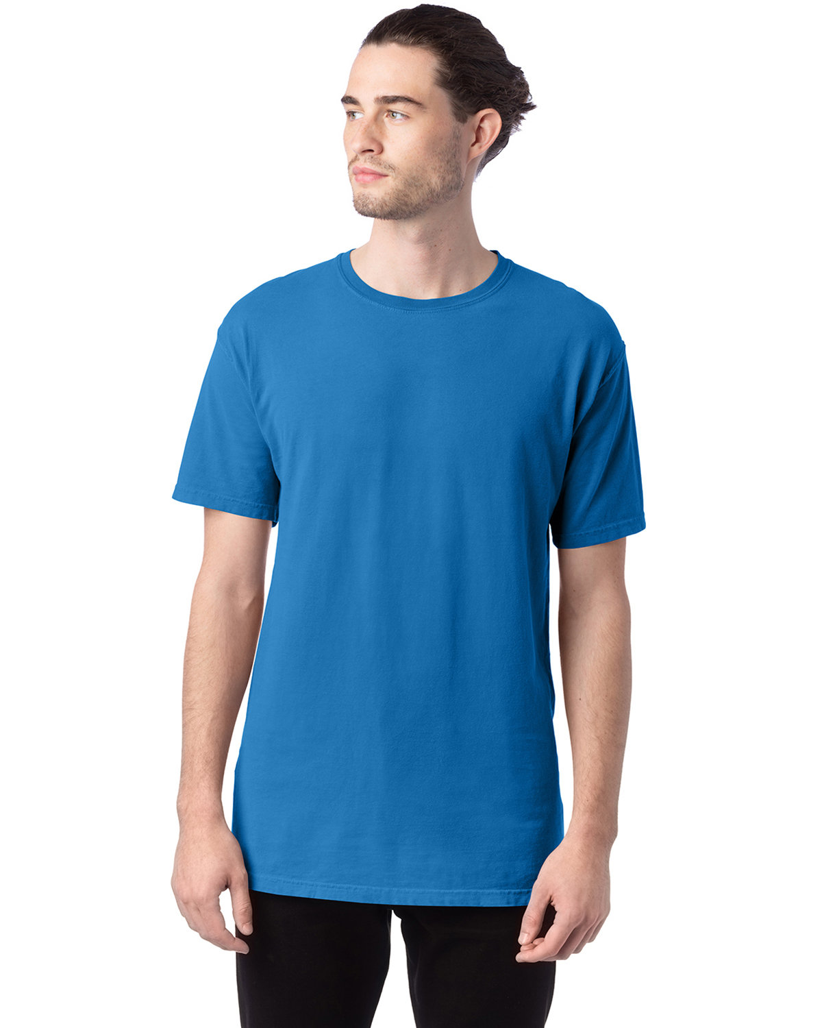 ComfortWash by Hanes Men's 5.5 oz., 100% Ringspun Cotton Garment-Dyed T-Shirt SUMMER SKY