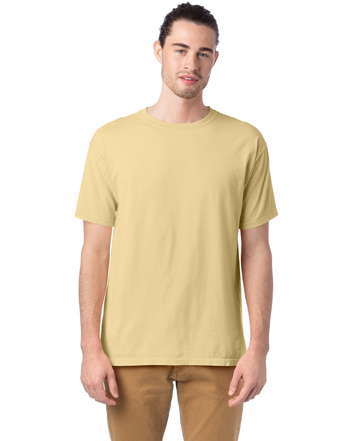 ComfortWash by Hanes Men's 5.5 oz., 100% Ringspun Cotton Garment-Dyed T-Shirt SUMMER SQUASH
