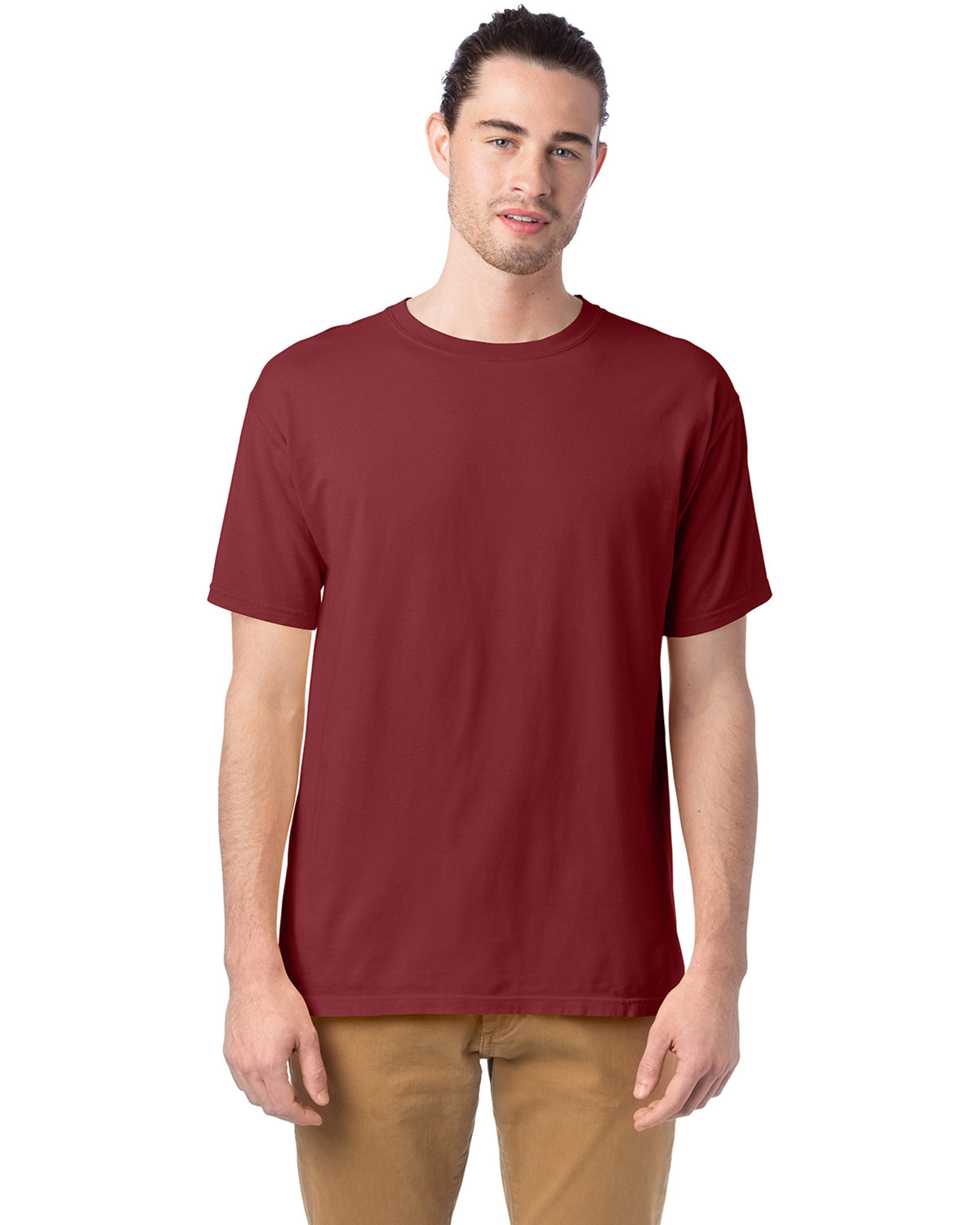 ComfortWash by Hanes Men's 5.5 oz., 100% Ringspun Cotton Garment-Dyed T-Shirt CAYENNE
