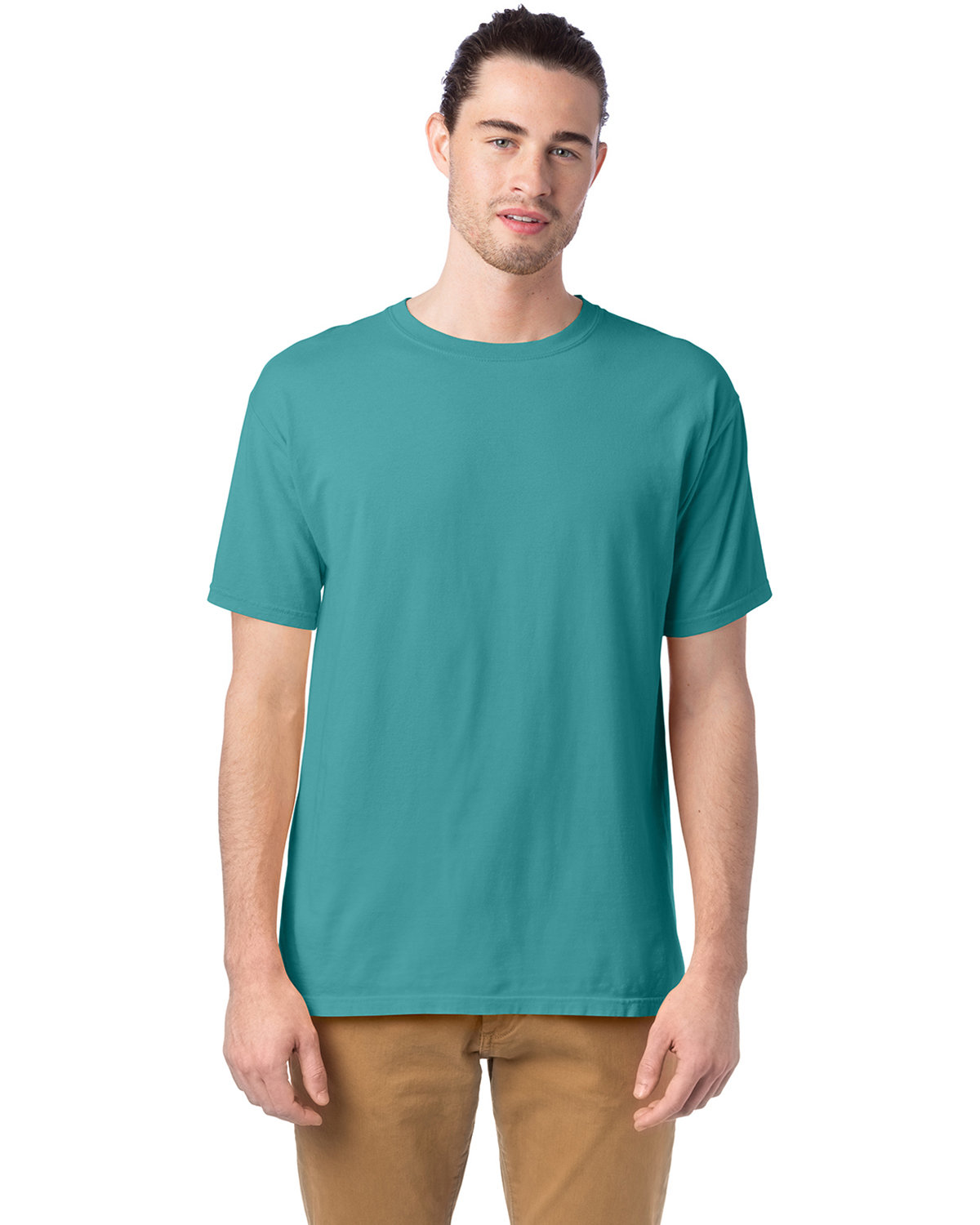 ComfortWash by Hanes Men's 5.5 oz., 100% Ringspun Cotton Garment-Dyed T-Shirt SPANISH MOSS