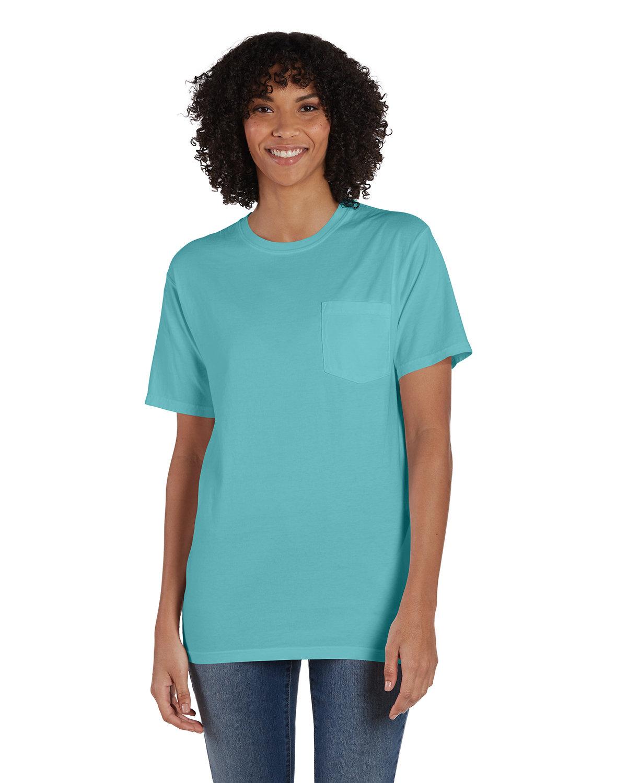 ComfortWash by Hanes Unisex 5.5 oz., 100% Ringspun Cotton Garment-Dyed T-Shirt with Pocket MINT