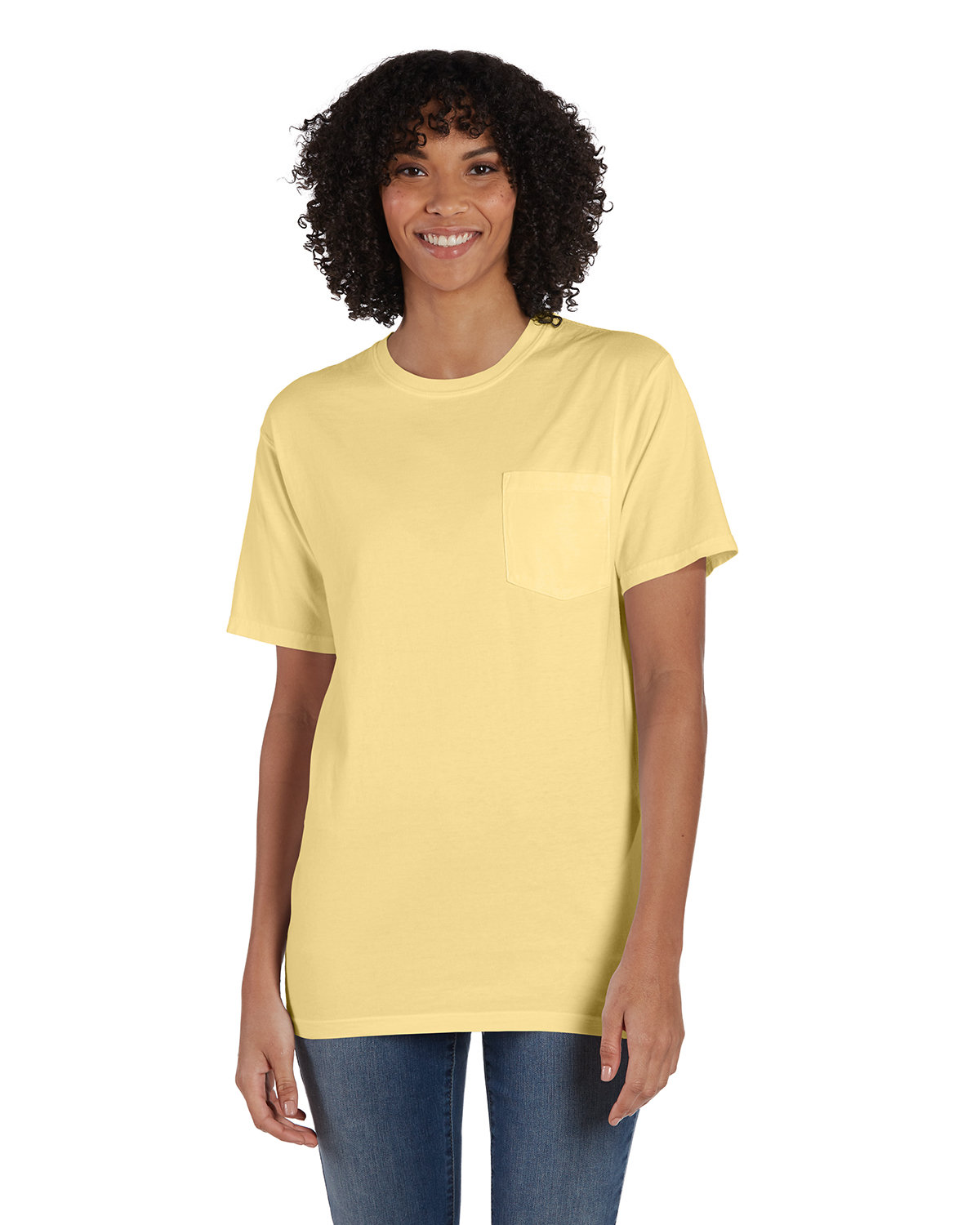 ComfortWash by Hanes Unisex Garment-Dyed T-Shirt with Pocket SUMMER SQUASH